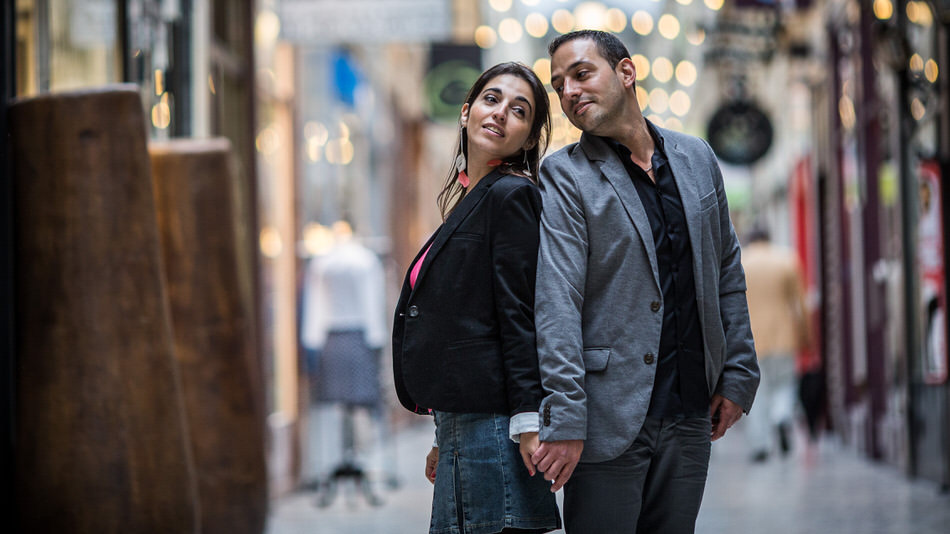 shooting photo de couple place Colette Paris
