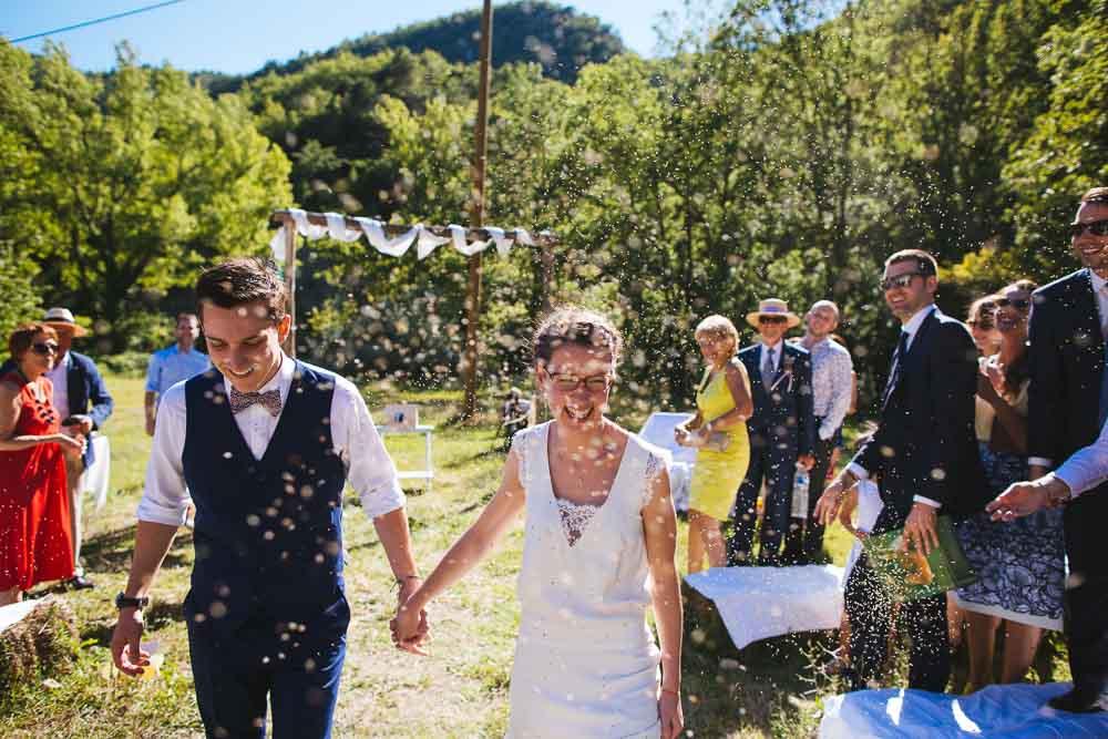 mariage champêtre mariage provence hameau de valouse