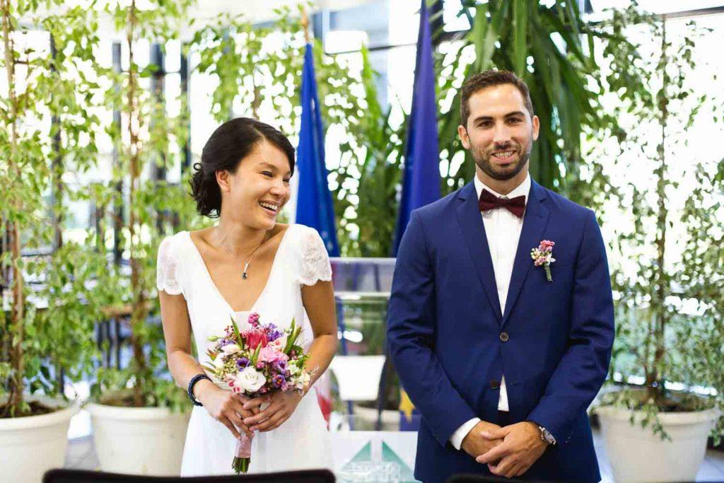 Photo de mariage franco-asiatique Domaine du Parc de Pontcarré