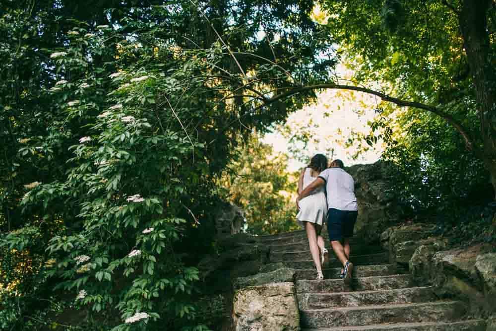 photos parc des buttes chaumont couple à Paris