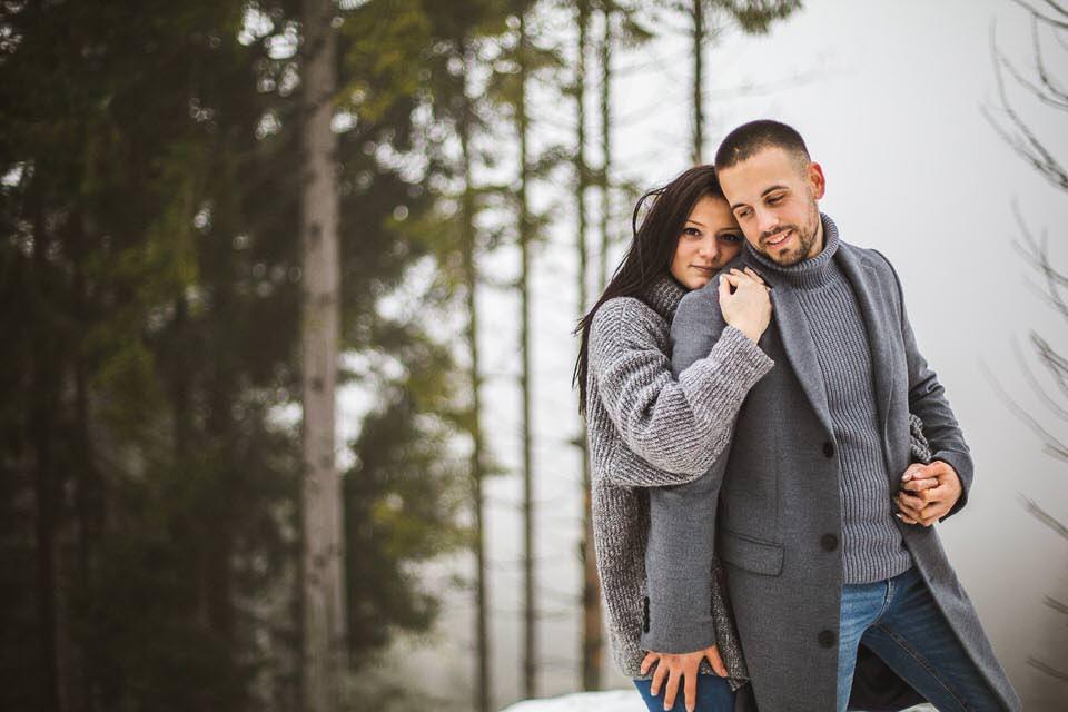 photographe love session à la montagne