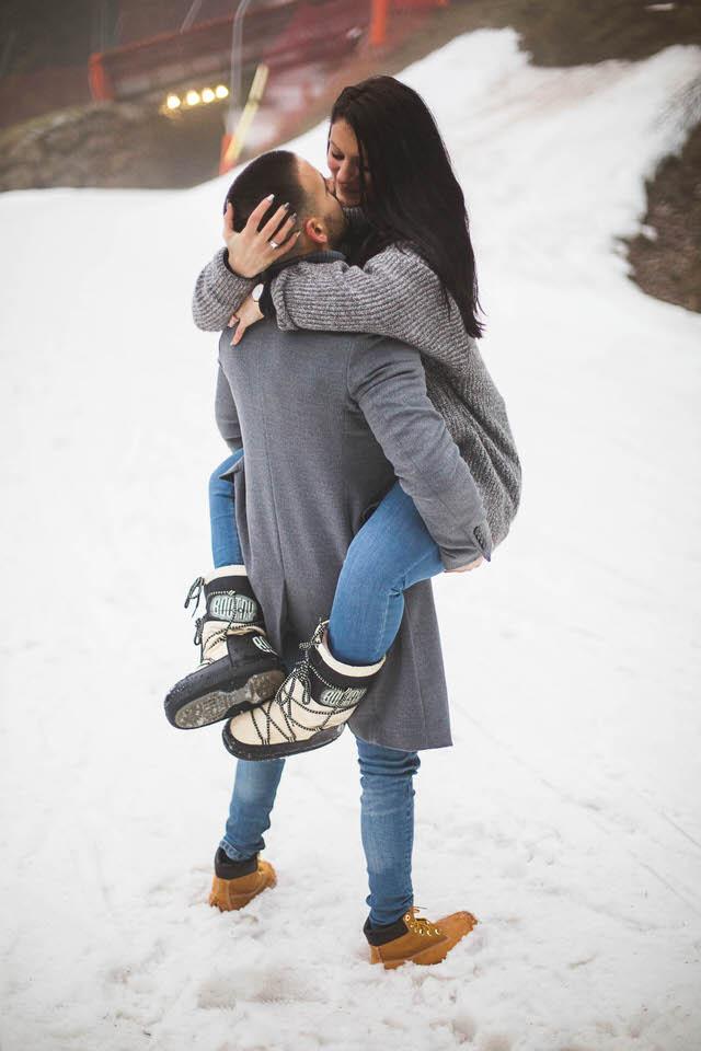 Shooting photo couple à la montagne - love session à Gérardmer