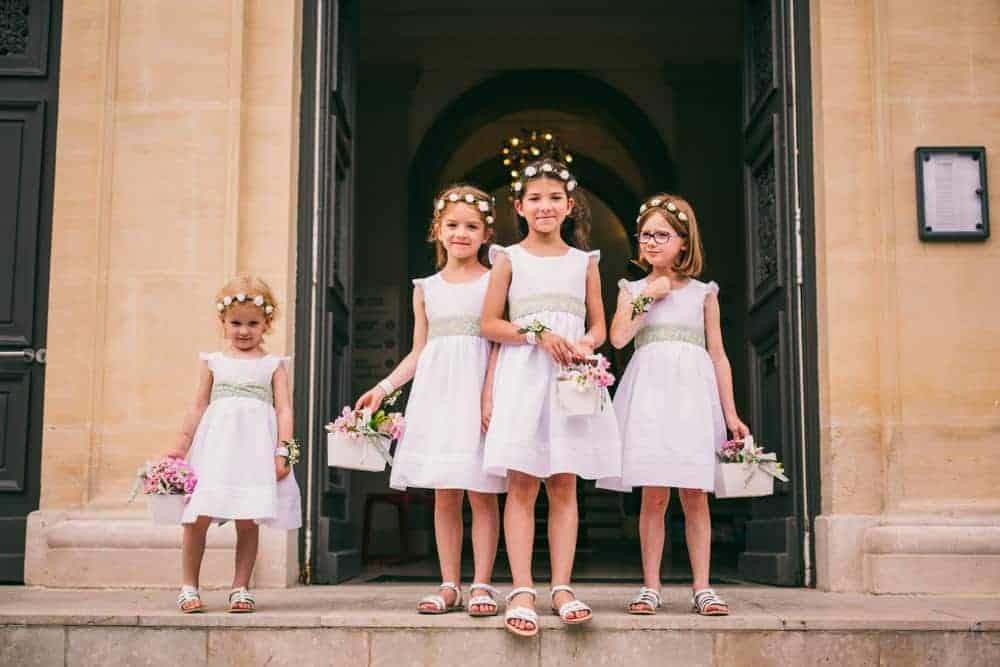 Photos enfants d'honneur mariage civil à la mairie de Coulommiers Seine-et-Marne