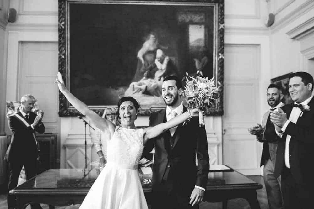 Photos mariage nb civil à la mairie de Coulommiers Seine-et-Marne