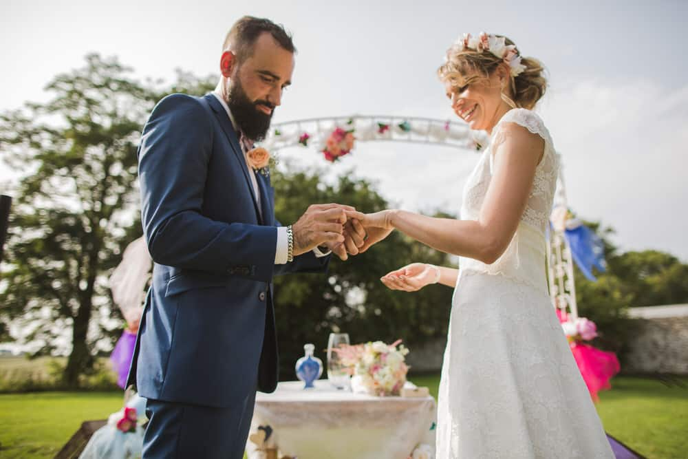 Photos de mariage à la ferme de la petite loge - mariage champêtre
