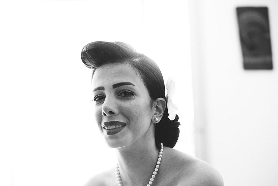 portrait de mariée 60's