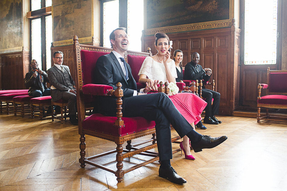 photo de mariage civil à Vincennes